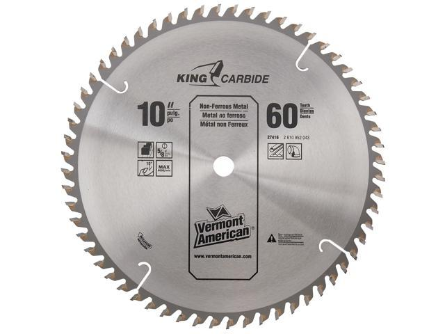 """Vermont American 27416 60 TPI 10"""" Semi-Industrial Carbide Tipped Circular Saw Blade"""
