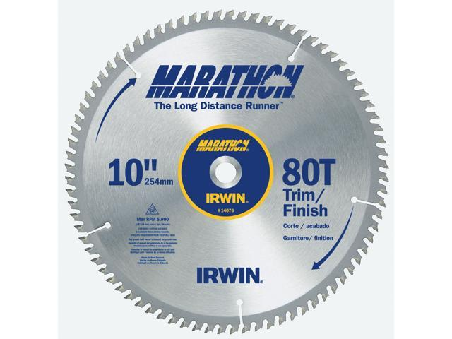 "Irwin Marathon 14076 10"" 80T Marathon® Miter & Table Saw Blades"