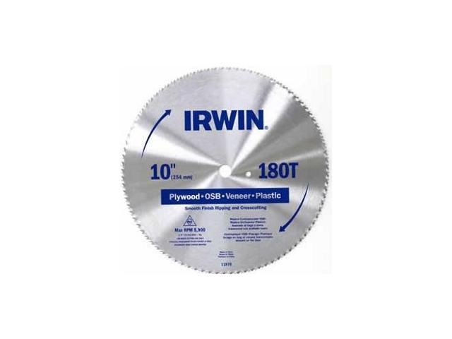 Bld Saw Cir 10In 1.6Mm 5/8In Irwin 10 Inch Blades 11870 High Carbon Steel