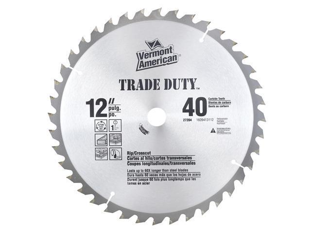 "Vermont American 27204 12"" Trade Duty® Series 40TSI Carbide Tipped Circular Saw Blade"