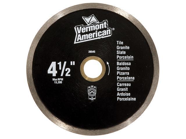 "Vermont American 28545 4-1/2"" Continuous Premium Wet Tile Diamond Blade"