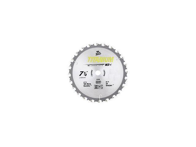"Vermont American 27825 8-1/4"" 40 TPI 10X Titanium™ Carbide Circular Saw Blades"