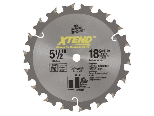 "Vermont American 26131 5-1/2"" 18T XTEND™ Carbide Circular Saw Blade"
