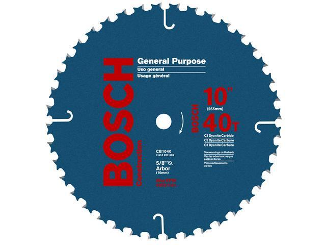 "Bosch Power Tools CB1040 10"" 40T General Purpose Circular Saw Blade"
