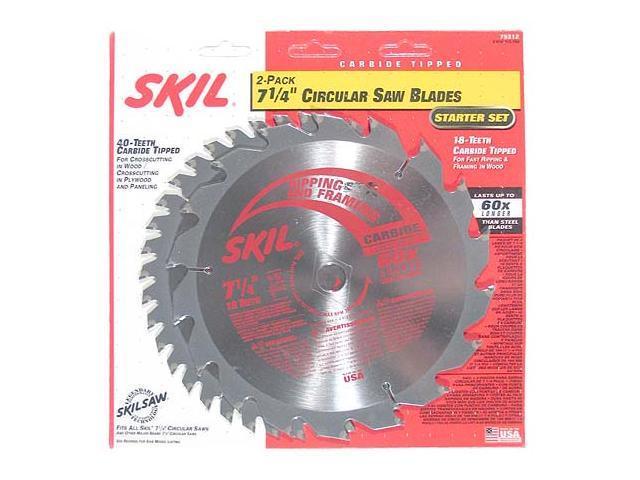"Skil 75312 2-Pack 7-1/4"" Circular Saw Blades"