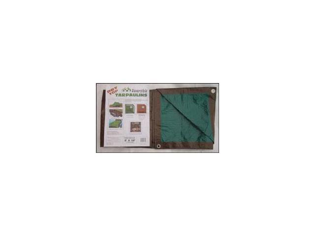 Dry Top Tarpaulins 11020 10' X 20' Brown & Green Dry Top Reversible Polyethylene Tarp