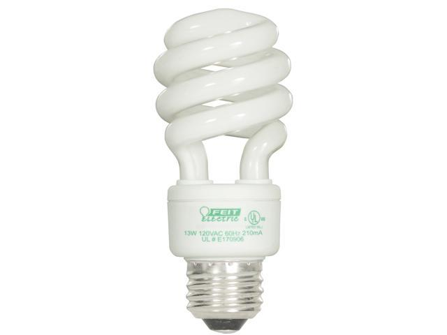 Feit Electric ESL13T/BW/4 4 Count 13 Watt Bright White Mini Twist Light Bulbs