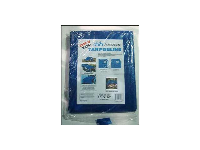 Dry Top Tarpaulins 01620 16' X 20' Blue Dry Top Polyethylene Tarpaulin