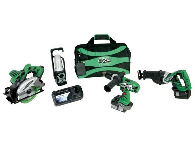 Hitachi Power Tools KC18DBL 4 Piece 18 Volt Lithium Ion Combo Kit