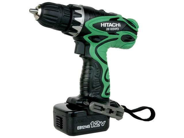 "Hitachi Power Tools DS12DVF3 3/8"" Driver Drill Kit With Flashlight"