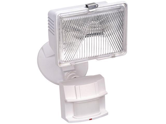 Heathco White 1 Bulb 250 Watt White Halogen Motion Flood Light