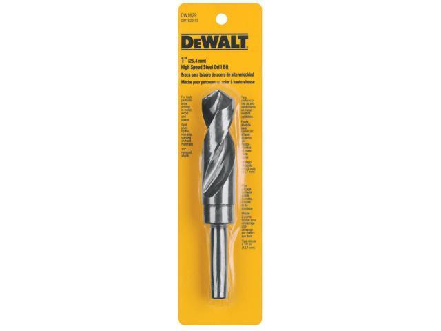 """B & D DEWALT POWER TOOLS 1 1/2"""" Black Oxide Reduced Shank Drill Bit"""