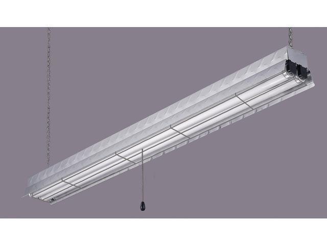 "Canarm Textured Chrome 48"" Aluminum Diamond Plate Fluorescent Shop Light"