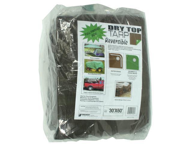 Dry Top Tarpaulins 13060 30' X 60' Brown & Green Dry Top Reversible Polyethylene Tarp