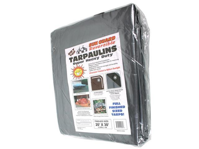 Dry Top Tarpaulins 22030 20' X 30' Silver & Brown Super Heavy Duty Polyethylene Tarp