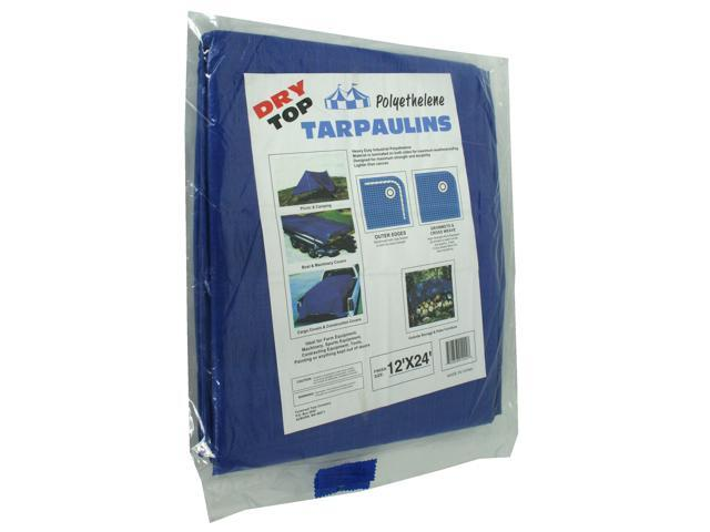 Dry Top Tarpaulins 01224 12' X 24' Blue Dry Top Polyethylene Tarpaulin