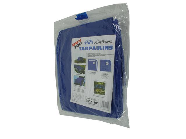 Dry Top Tarpaulins 02030 20' X 30' Blue Dry Top  Polyethylene Tarpaulin