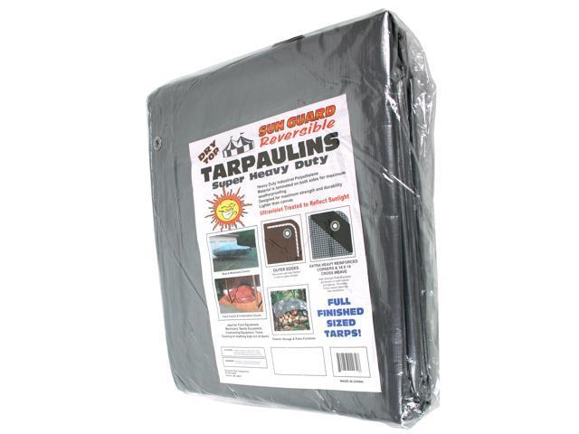 Dry Top Tarpaulins 23060 30' X 60' Silver & Brown Super Heavy Duty Polyethylene Tarp