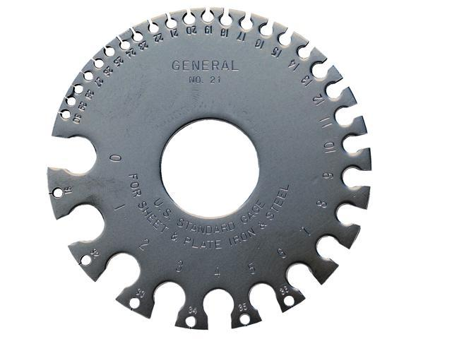 General 21 Round Sheet Metal Gauge