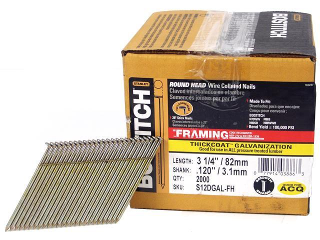 Bostitch Stanley S12DGAL-FH 2,000 Count 3.25