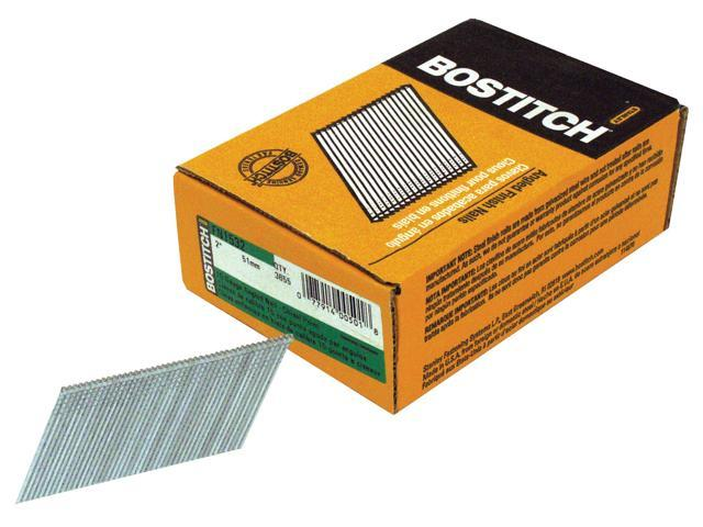 "Bostitch Stanley FN1532 3,655 Count 2"" 15 Gauge Angled Finish Nails"