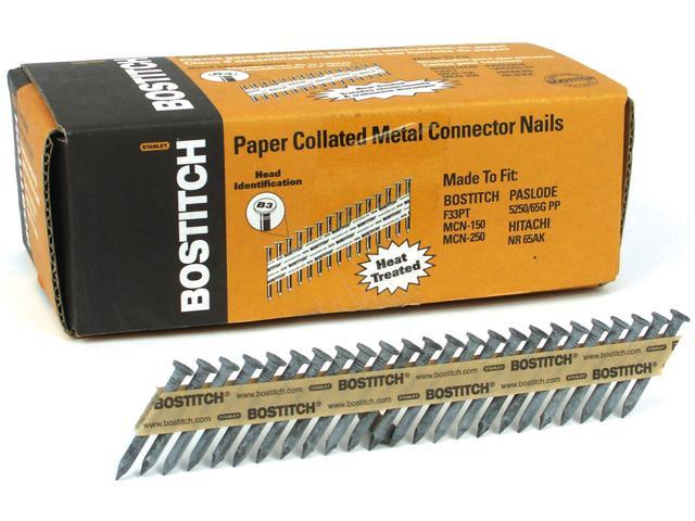 "Bostitch Stanley PT-MC14815-1M 1,000 1-1/2"" X .148"" X 35º Paper Collated Metal Connector Nails"