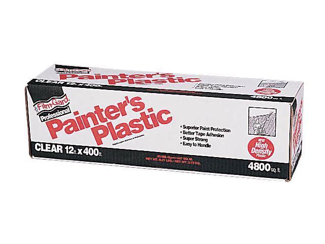 Covalence Plastics HD12400 12X400 12' X 400' Film-Gard® Clear Professional Painter's Plastic