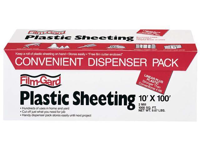 "Covalence Plastics MH794 10X100' 10"" X 100' 2 ML Clear Plastic Sheeting"