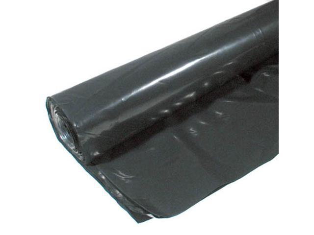 Warps 4CH15-B 15' X 25' 4 ML Black Plastic Sheeting