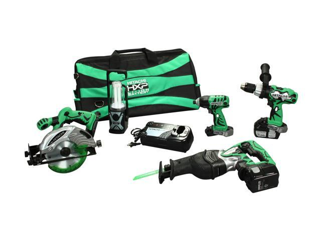 Hitachi KC18DBLWH18P4 18V 3.0Ah Lithium Ion 5-Tool Combo Kit