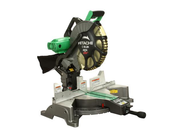 "Hitachi C12LDH 12"" Dual Compound Miter Saw with Laser Marker & Digital Display"