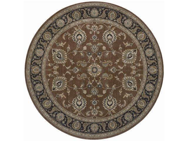 "Shaw Living Arabesque Coventry Area Rug Polished Copper 7' 5"" Round 3K07000600"