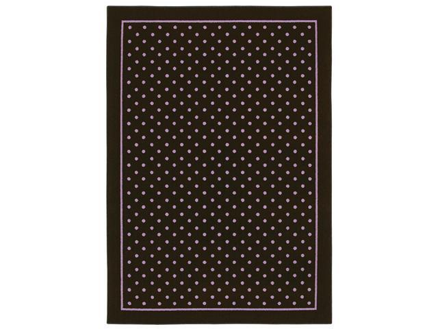 Shaw Living Kathy Ireland Home Young Attitudes Carnival Bloom Area Rug Chocolate 5' 5