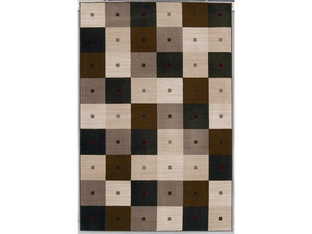 Shaw Living Modern Elements Checkmate Area Rug Black 5' x 7' 4