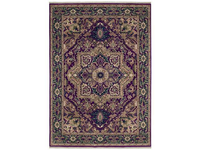 "Shaw Living Kathy Ireland Home Int'l First Lady Stately Empire Area Rug Ancient Red 3' 6"" x 5' 3"" 3V17310800"