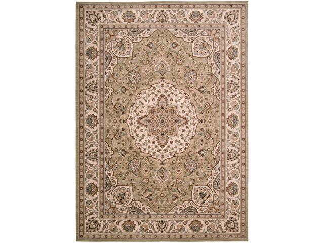 Shaw Living Timber Creek By Phillip Crowe Lake House Area Rug Beige 5' 5
