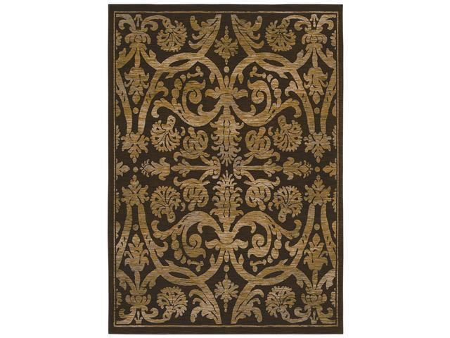 "Shaw Living Kathy Ireland Home Int'l First Lady Via Verde Area Rug Washington Brown 1' 10"" x 2' 9"" 3V46121700"