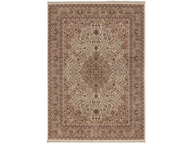 "Shaw Living Inspired Design Chateau Garden Area Rug Brown 3' 10"" x 5' 6"" 3V80902700"