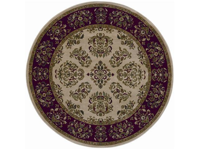 "Shaw Living Inspired Design Alyssa Area Rug Beige 7' 8"" Round 3V81204100"