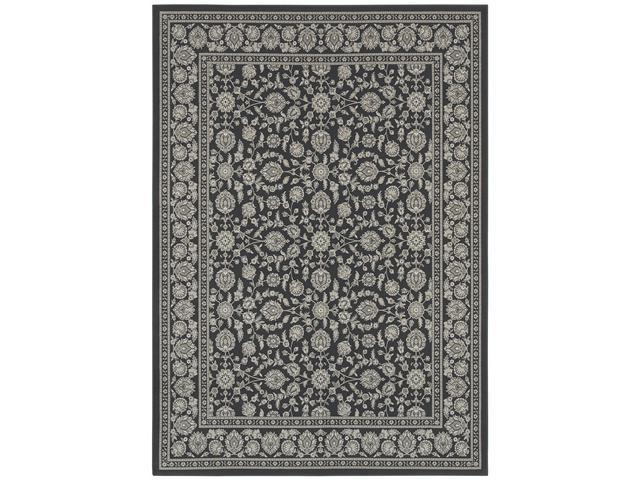 Shaw Living Woven Expressions Platinum Shelburne Area Rug Dark Cocoa 7' 8