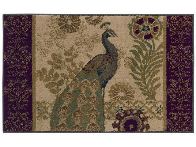 Shaw Living Reflections Peacock Area Rug Beige 2' 6