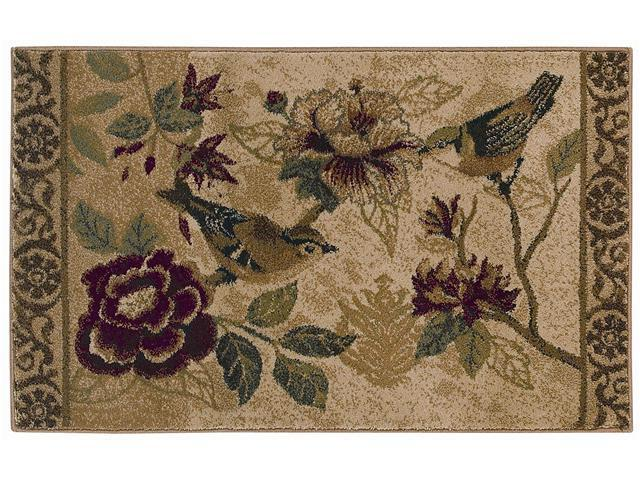Shaw Living Reflections Bird Study Area Rug Beige 2' 6