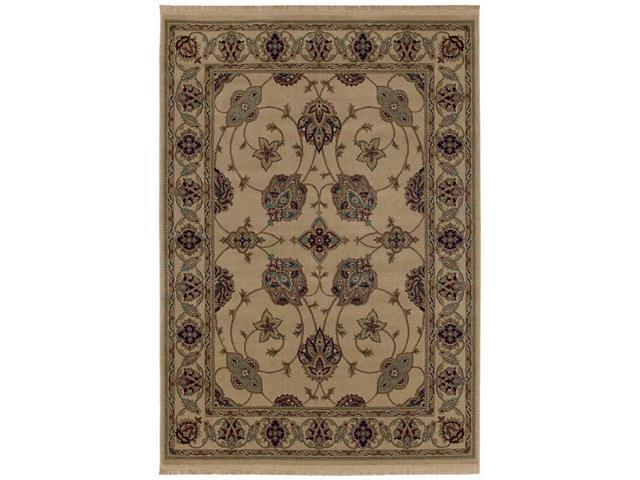 "Shaw Living Kathy Ireland Home Essentials French Countryside Area Rug Natural 3' 10"" x 5' 7"" 3X72229100"