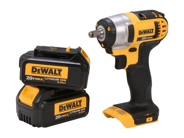 "DEWALT DCF883L2 20V MAX Lithium Ion 3/8"" Impact Wrench Kit with Hog Ring (3.0Ah)"