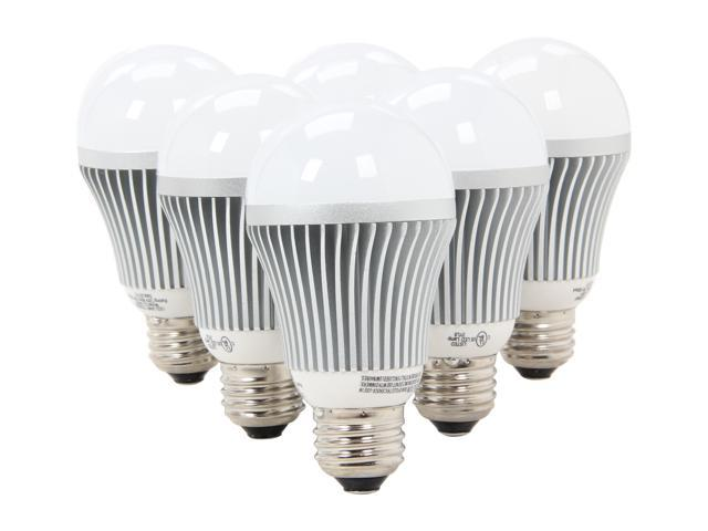 Collection LED A19 6 bulb pack deal / 7 Watt / 40 watt Incandescent replacement / 454 lumen / Warm white / 3065 k  / 40,000 hr / 3 yr warranty