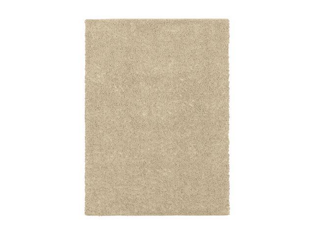 Shaw Living Solid Beige 5' x 7' Shag Area Rug