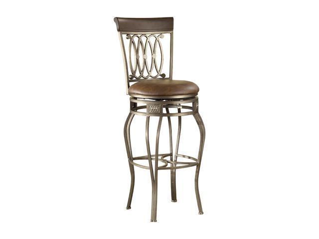 "Hillsdale Furniture Montello Old Steel Swivel 32"" Bar Stool"