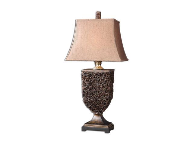 Uttermost Carolyn Kinder Knotted Rattan Table Lamp