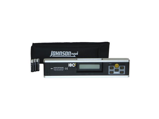 Johnson 40-6080 Electronic Level Inclinometer with Rotating Display