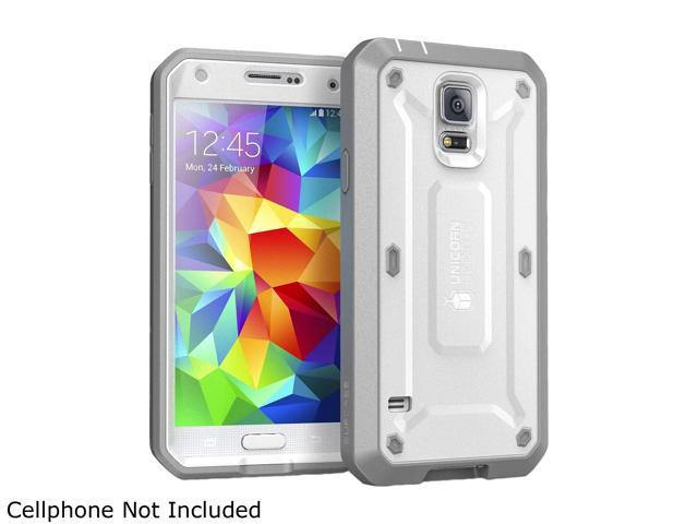 SUPCASE Samsung Galaxy S5 Case - Unicorn Beetle PRO Series Full-body Hybrid Protective Case with Built-in Screen Protector (White/Gray), Dual Layer Design/Impact Resistant Bumper Prime
